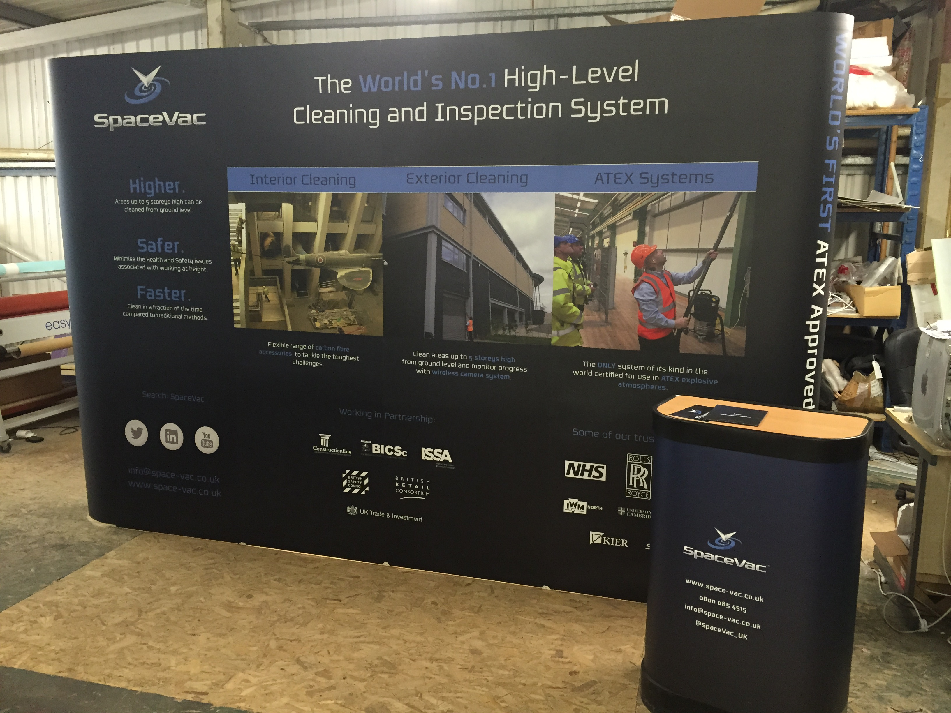 SpaceVac Exhibition Stand for Manchester Cleaning Show