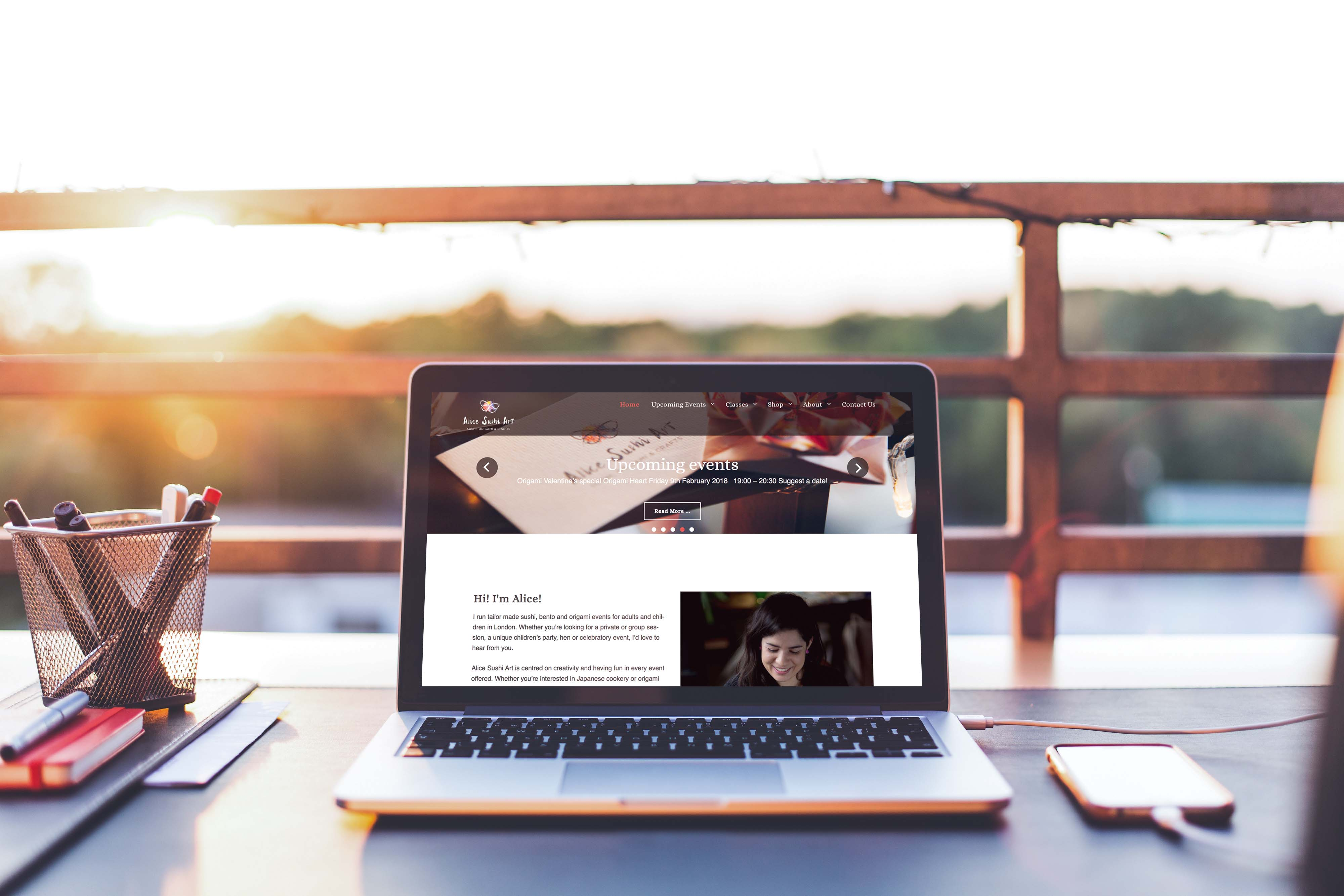 Alice Sushi Art Website